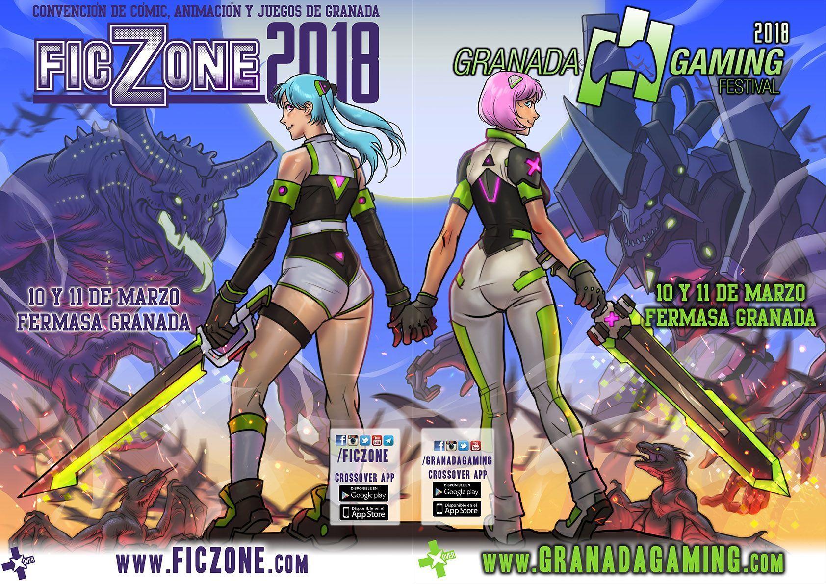 Cartel FicZone granada gaming 2018