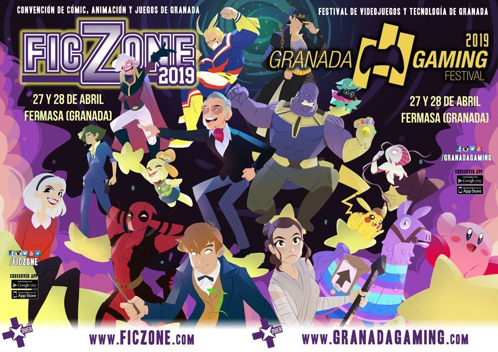 Cartel FicZone granada gaming 2019